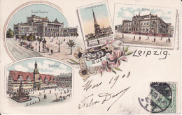 25043Leipzig, Gruss Aus 1903 (sher Kleine Falten Im Ecken) - Leipzig