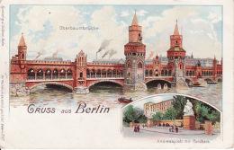 2504 27Gruss Aus Berlin, Oberbaumbrucke 1912 (eine Aufkleber Sehen Rückseite) - Allemagne