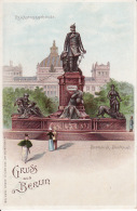 250434Gruss Aus Berlin, Reichstagsgebaude Bismarck Denkmal - Allemagne