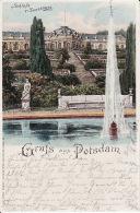 250463Gruss Aus Potsdam, Schloss Sanssouci 1900 (Falten Im Ecken) - Potsdam