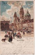 250469Gruss Aus München, Theatinerkirche 1899 - Muenchen