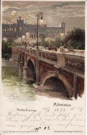 250470Gruss Aus München, Brucke  Maximilaneum 1899 - Muenchen