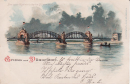 250473Gruss Aus Düsseldorf, Die Neue Rheinbrücke 1900 - Duesseldorf