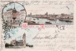 2504124Gruss Aus Magdeburg, 1903 (Falten Sehen Rückseite) - Magdeburg