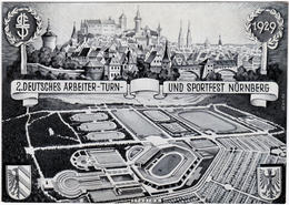 Nürnberg Ansichtskarte 2. Deutsches Arbeiter-Turn- Und Sportfest Nürnberg 1929 - Nuernberg