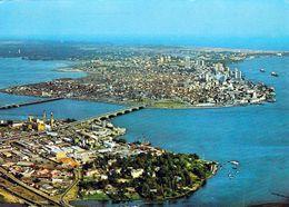 1 AK Nigeria * Blick Auf Lagos Island - Die Hauptinsel Der Stadt Lagos - Luftbildaufnahme * - Nigeria