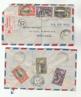 2 X 1957 TRINIDAD REGISTERED COVERS Airmail  To GB Stamps Cover - Trinidad & Tobago (...-1961)