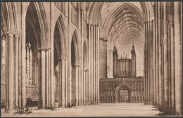 Nave East, York Minster, Yorkshire, C.1920 - Frith's Postcard - York
