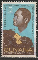 Guiana 1970 L. F. S. Burnham, Prime Minister - Capi Di Stato   Mappe - Guiana (1966-...)