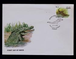 PAKISTAN Fdc Crocodilus Palustris Crocodile 1983 Pré-historiques Sp5392 - Prehistorics