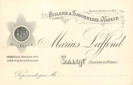 CARTE PUB ILLUSTREE HUILERIES ET SAVONNERIE A VAPEUR MARIUS LAFFOND SALON - Pubblicitari