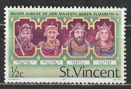 St.Vincent E Grenadine 1977 William I, William II, Henry I, Stephen - Dipinti   Re - St.Vincent E Grenadine