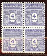 SUPERBE BLOC ARC De TRIOMPHE N°627 4F Bleu NEUF Avec GOMME** - 1944-45 Arc De Triomphe