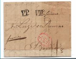 THT119 / THURN + TAXIS -  Frankfurt PP 1833 Nach Bordeaux - Duitsland