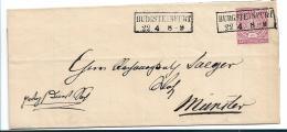 NDP161 /  NORDDEUTSCHER POSTBEZIRK - Burgsteinfurt, Rechnung, 1871, Preuss. Kastenstempel, Nach Münster - North German Conf.
