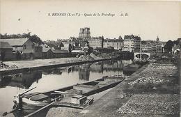 35,Ile Et Vilaine, RENNES, Quais De La Prévalaye, Scan Recto-verso - Rennes