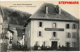 CPA 05 : ABRIES - CARTE NEUVE - PLACE PRINCIPALE - Alpes Pittoresques - édition  LOUIS BONNET - France