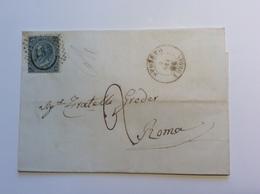 Regno D' Italia SPOLETO UMBRIA (Perugia) 1866 Lettera > Roma Stato Pontificio (cover Lettre - Marcophilia