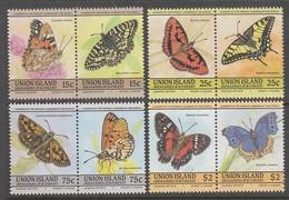 SERIE NEUVE DE ST-VINCENT GRENADINES UNION ISLAND - PAPILLONS - Papillons