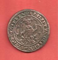 JETON COLLECTION BP , MASSE D'OR PHILIPPE LE BEL ,1296 , LE TRESOR DES ROIS DE FRANCE N° 8 - Professionnels / De Société