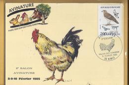 C.M. 2e Salon Avinature 1985 - Rapace Et Coq - Nimes - 1980-89