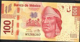 MEXICO  P124k 100 PESOS 17.10.2013 Serie AJ     VF NO P.h. ! - Mexico