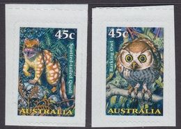 Australia ASC 1639c-1640c 1997 Creatures Of The Night, Peel And Stick, Mint Never Hinged - 1990-99 Elizabeth II
