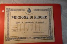 CARABINIERI REALI  CARTELLO PRIGIONE DI RIGORE OGGETTI DI CASERMAGGIO  IVI ESISTENTI - Material Y Accesorios