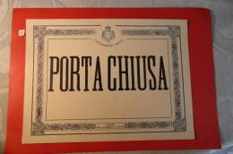 CARABINIERI REALI  CARTELLO PORTA CHIUSA - Old Paper