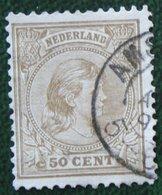 50 Ct Wilhelmina NVPH 43 (Mi 43) 1891 Gestempeld / USED NEDERLAND / NIEDERLANDE - Periode 1891-1948 (Wilhelmina)