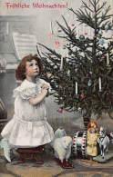 CPA JEUNE FILLE NOEL SAPIN POUPEE JEU JOUET CHILD GIRL CHRISTMAS PINE DOLL TOYS TRENKLER - Portraits