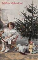CPA JOLIE FILLE POUPEE SAPIN NOEL JEU JOUET CHRISTMAS GIRL DOLL TOYS PINE TRENKLER - Portraits