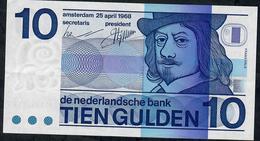 PAYS-BAS P91 10 GULDEN 1968  AU - [2] 1815-… : Kingdom Of The Netherlands
