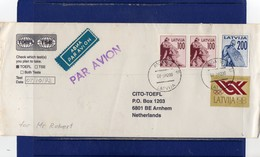##(DAN188) - 1992 -  Air Mail Cover To Holland - Lettonia