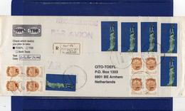 ##(DAN188) - 1992 -  Registered Air Mail Cover To Holland - Lettonia