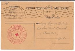 Carte FM Chalons Sur /saone 1941 Cachet Croix Rouge - Cartes De Franchise Militaire