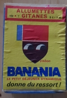Rare Grande Boîte Allumettes Banania Morvan Années 60-70 - Chocolat
