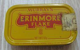 AC - MURRAY'S ERINMORE FLAKE CIGARETTE PIPE TOBACCO EMPTY VINTAGE TIN BOX 50 Gram NORTHERN IRELAND - Contenitori Di Tabacco (vuoti)