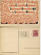 36526 Germany Reich, Stationery Card 75pf.1922 Postmark Wittenberg Luther Evangelic Kirchenbund 1922 - Christianity