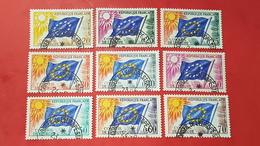 Timbres De Service N° 27 à 35  Avec Oblitèration Cachet à Date Du Conseil De L'Europe  TTB - Afgestempeld