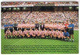 ESPAGNE   -   FOOT-    ATHLETIC  BILBAO  1991 - 92       TBE - Football