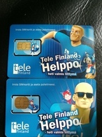 Telefinlans GSM SIM Card,Helppo,A Pair Of Mint, Cards With A Little Scratch. - Finland