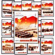 Grenada 2015  Honoring People's Republic Of China  Stamps 15v - Grenada (1974-...)
