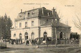 CPA - BOURGANEUF (23) - Aspect De La Gare En 1920 - Bourganeuf