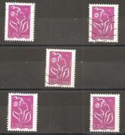 France 2006  Oblitéré   N° 4157   Légende  Philaposte   1,33 €  Lilas   ( 5 Exemplaires ) - 2004-08 Marianne Of Lamouche