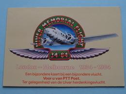 London - Melbourne 1934-1984 UIVER Herdenkingsvlucht ( PTT Post - Nederland ) Anno 1984 ( Zie Foto's ) ! - Poste & Facteurs