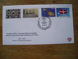 FDC 2016 50ans Rép De Malte- Ordre Souverain Militaire Hospitalier De Saint-Jean De Jérusalem, De Rhodes Et De Malte - Malta