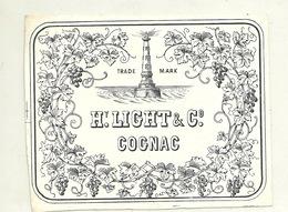 VIEILLE ETIQUETTE COGNAC / MAISON HENRY LIGHT & CO - Etiquettes