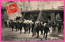 Pompiers - Le Matériel D'Incendie - Atellage - Echelle - Animée - STAERCK Frères - 1908 - Sapeurs-Pompiers