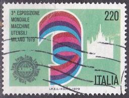 Repubblica Italiana, 1979 - 220 Lire Macchine Utensili - Nr.1469 Usato° - 1946-.. Republiek